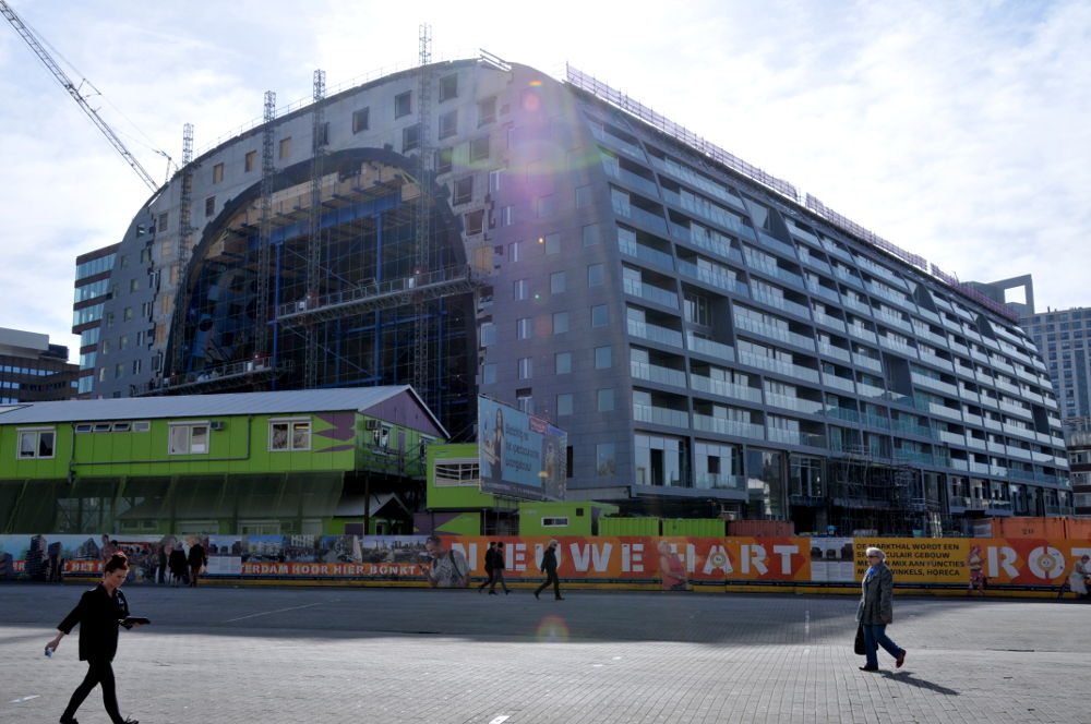 Bouw Markthal Rotterdam. Foto: Merten Nefs