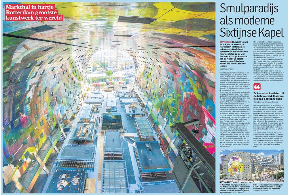 Nieuwsbericht Rotterdamse Markthal