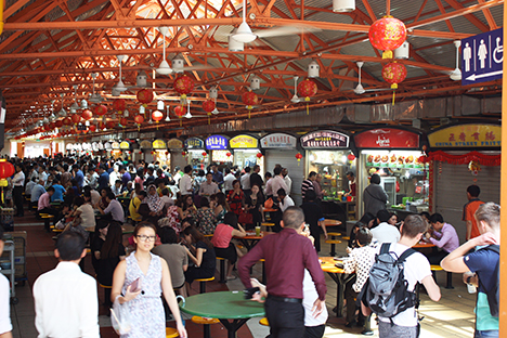 The Hawker centers van Singapore