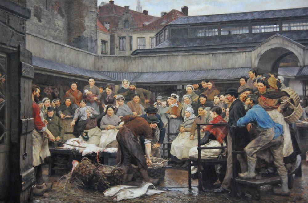 De oude vismijn - Edgard Farasyn 1882
